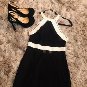 $20 Express Black and White Dress!!! Small